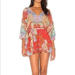 Spell & Gypsy Lotus Romper Kimono Playsuit XS